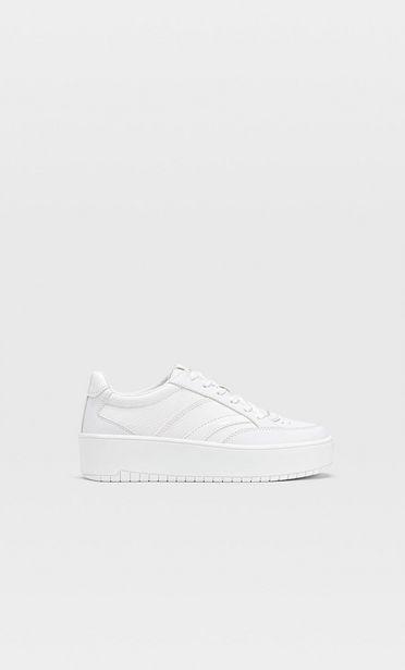 Προσφορά Λευκά αθλητικά παπούτσια με πλατφόρμα για 25,99€