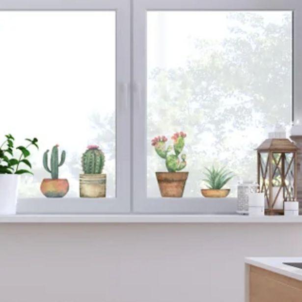 Προσφορά Αυτοκόλλητο παραθύρου Cactus CREARREDA για 8,99€