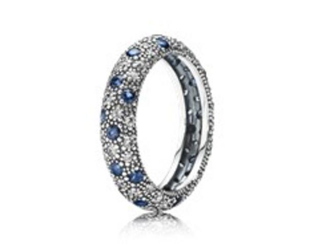 Προσφορά Δαχτυλίδι από μασίφ ασήμι 925, κυβική ζιρκόνια και blue crystal για 119€