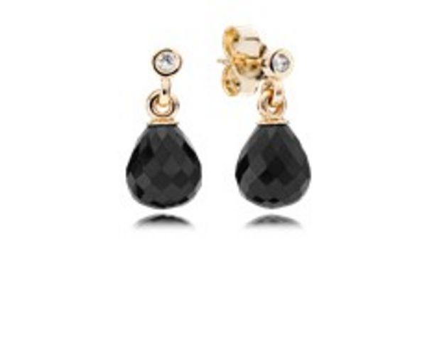 Προσφορά Χρυσά σκουλαρίκια 14Κ με black ctystal για 299€