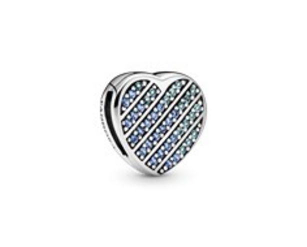 Προσφορά Blue Pavé Heart Clip Charm για 49€