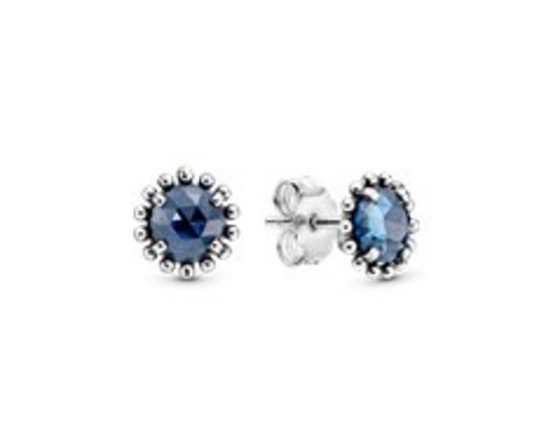 Προσφορά Ασημένια σκουλαρίκια με blue crystal για 49€
