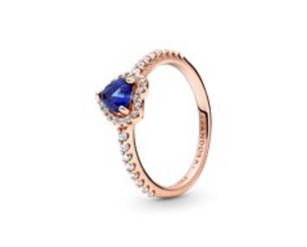 Προσφορά Sparkling Blue Elevated Heart Ring για 89€