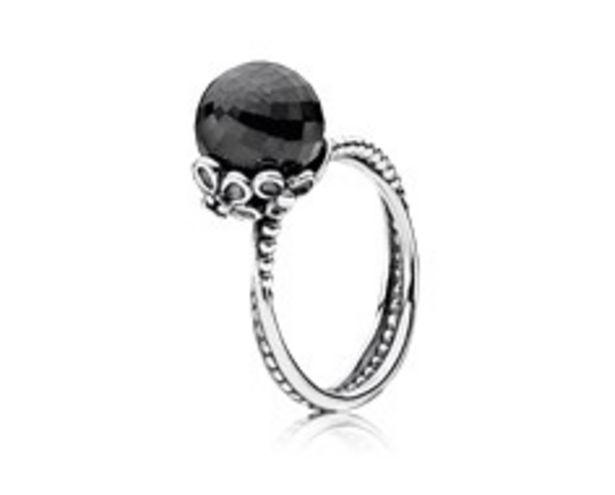 Προσφορά Silver ring, black spinel, grey crystal για 119€
