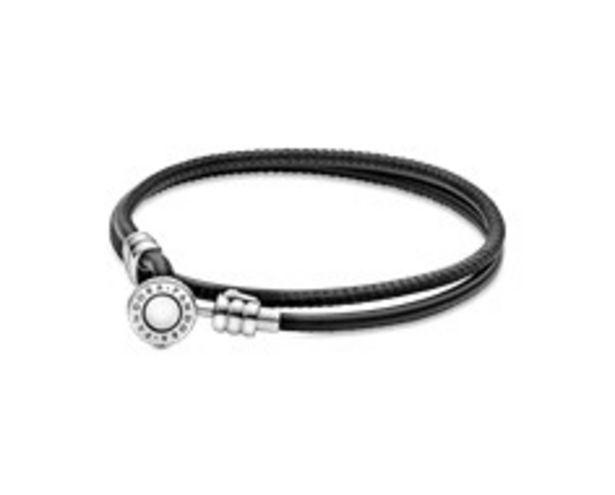 Προσφορά Moments Double Leather Bracelet, Black για 49€
