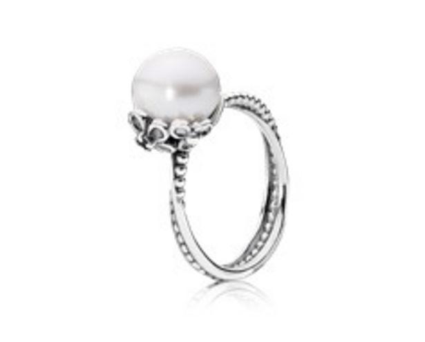 Προσφορά Silver ring, white freshwater cultured pearl, cubic zirconia για 89€