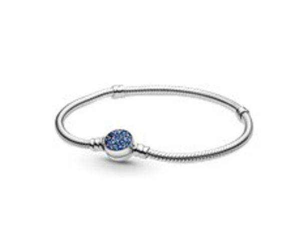 Προσφορά Pandora Moments Sparkling Blue Disc Clasp Snake Chain Bracelet για 69€