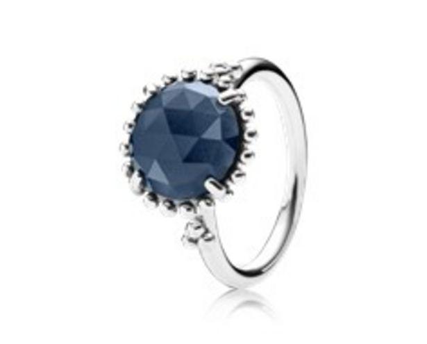 Προσφορά Δαχτυλίδι από μασίφ ασήμι 925 και blue crystal για 79€