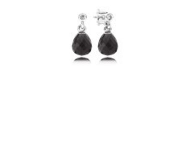 Προσφορά Ασημένια σκουλαρίκια με black crystal για 69€