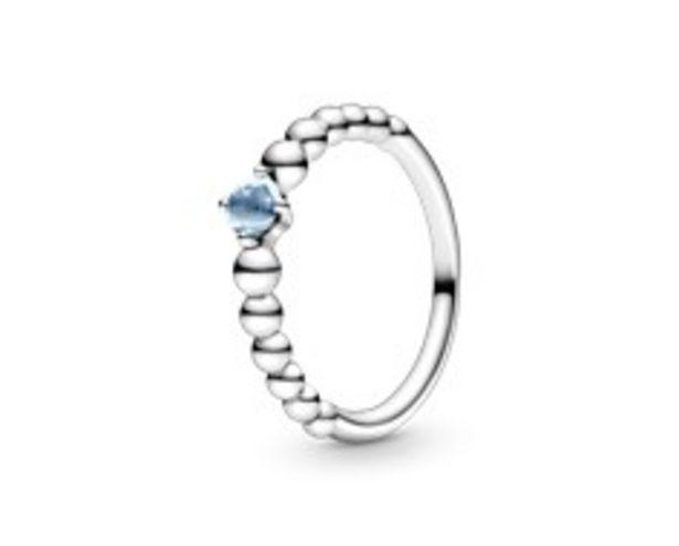 Προσφορά Aqua Blue Beaded Ring για 45€