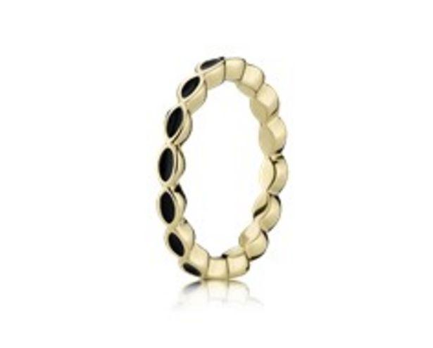 Προσφορά Gold ring, black enamel για 349€