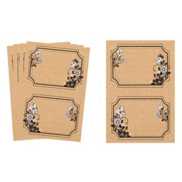 Προσφορά Αυτοκόλλητες Ετικέτες Craft Μπεζ Λουλούδια 9.2x7 cm - 10 τμχ. για 0,5€