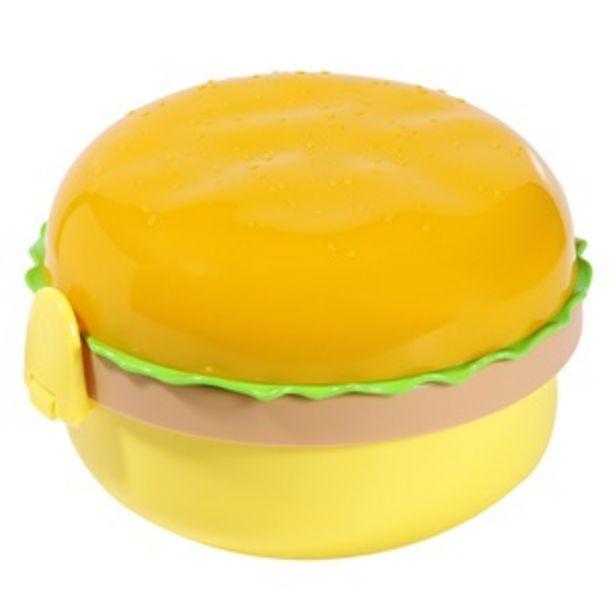 Προσφορά Φαγητοδοχείο Σχήμα Burger 4 Θέσεις + Μαχαιροπήρουνα 350 ml για 1,49€
