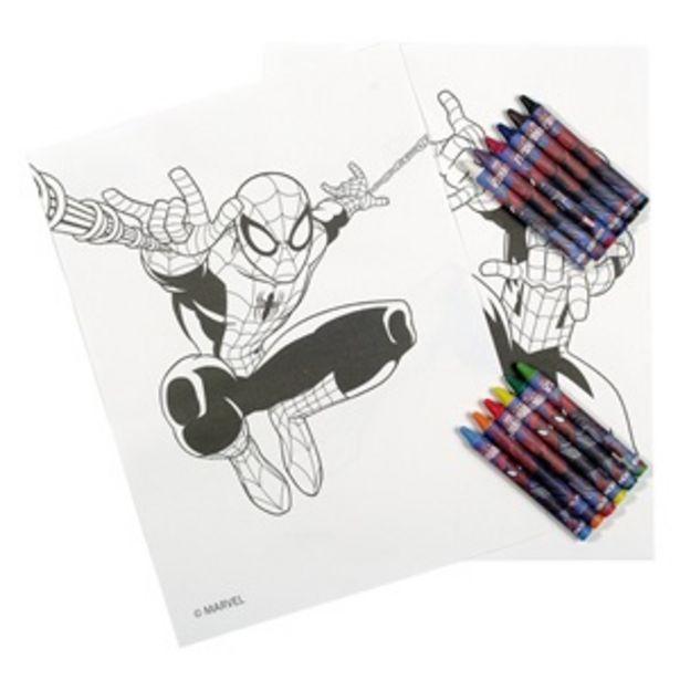 """Προσφορά Σετ """"Βλέπω και Ζωγραφίζω"""" SPIDERMAN 12 Κηρομπογιές - 24Φ για 1,49€"""
