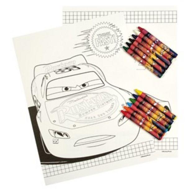 """Προσφορά Σετ """"Βλέπω & Ζωγραφίζω"""" Cars 12 Κηρομπογιές - 24Φ για 1,49€"""
