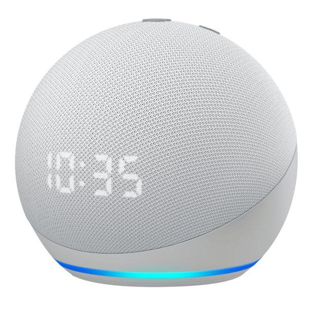 Προσφορά AMAZON Echo Dot 4 Έξυπνο Ηχείο με Ρολόι για 72,9€