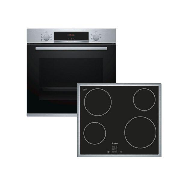 Προσφορά Bosch HBA513BS00 + PKE645D17E Σετ Φούρνος + Εστία για 689€
