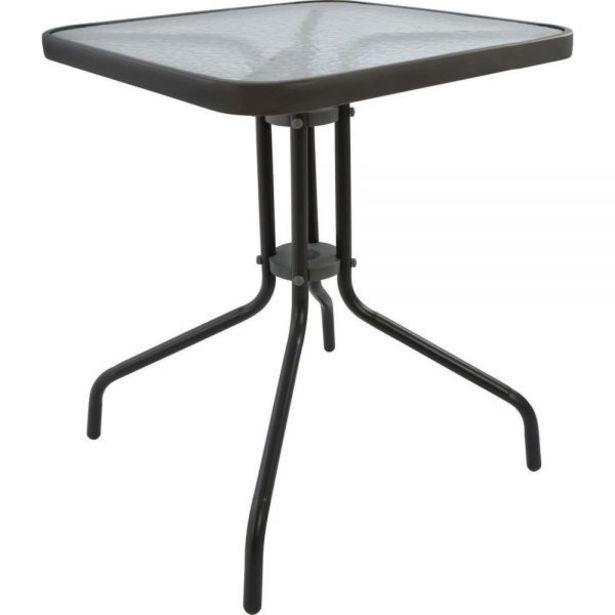 Προσφορά Μεταλλικό τραπέζι κήπου 80x80x70 εκ. για 33,9€