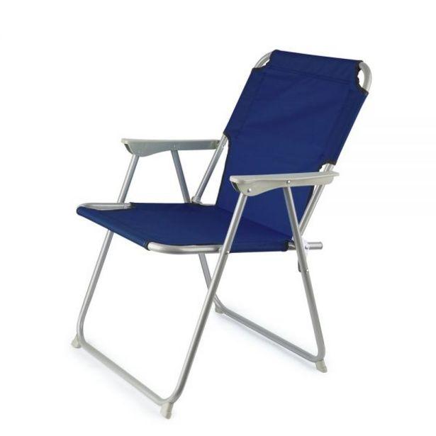 Προσφορά Αναδιπλούμενο καρεκλάκι παραλίας, σκούρο μπλε για 9,9€