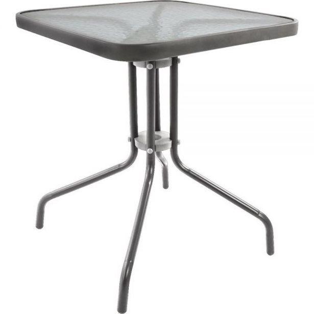 Προσφορά Μεταλλικό τραπέζι κήπου 80x80x71 εκ. για 33,9€