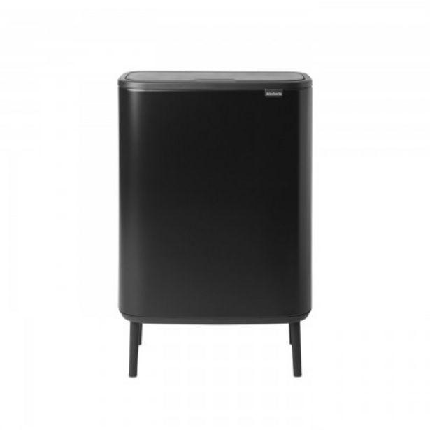 Προσφορά Brabantia Δοχείο απορριμμάτων Touch Bin Hi 2x30lt Black σειρά BO για 189€