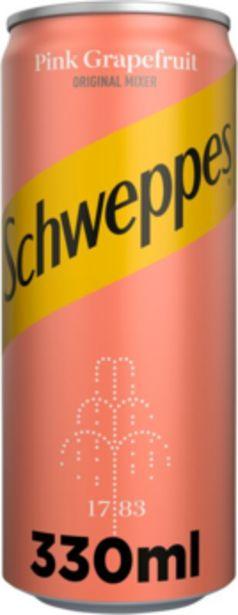 Προσφορά Schweppes Pink Grapefruit 330 ml για 1,25€