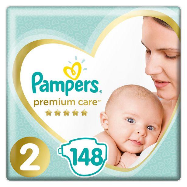 Προσφορά Pampers Πάνες Premium Care Mega Box (148τεμ) Νo2 (4-8kg) για 25,99€