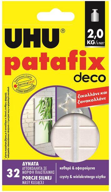 Προσφορά UHU Patafix Αυτοκόλλητα Home Deco 80 τεμάχια για 2,29€