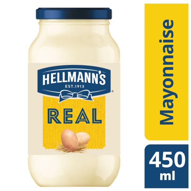 Προσφορά Hellmanns Μαγιονέζα Real 450ml για 2,7€
