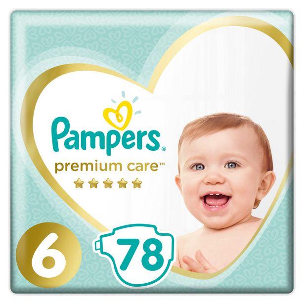 Προσφορά Pampers Πάνες Premium Care Mega Box (78τεμ) Νo6 (13+kg) για 25,99€