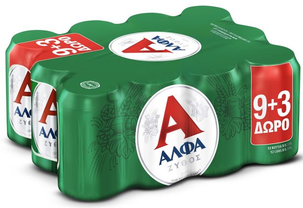 Προσφορά Άλφα Μπύρα Lager 9+3 Δώρο για 8,01€