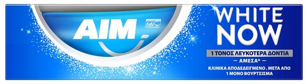 Προσφορά Aim Οδοντόκρεμα White Now 75ml για 1,72€