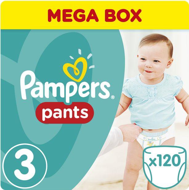 Προσφορά Pampers Πάνες Pants Mega Box (120τεμ) Νο 3 (6-11kg) για 28,79€
