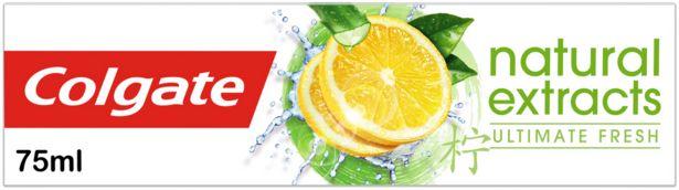 Προσφορά Colgate Naturals Fresh Lemon Οδοντόκρεμα 75ml για 1,94€