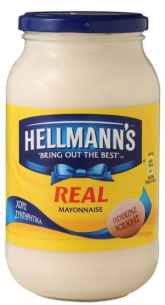 Προσφορά Hellmanns Μαγιονέζα Real 650ml για 3,62€