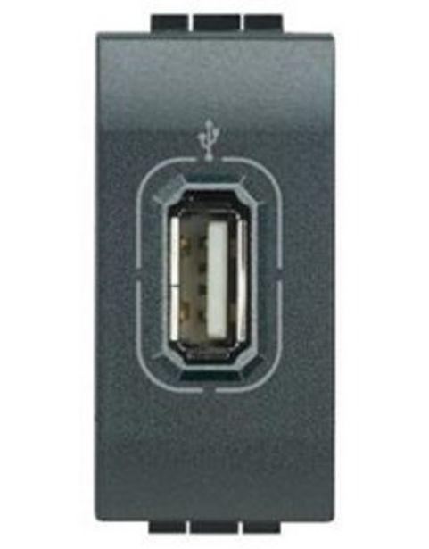 Προσφορά Μηχανισμός, πλακίδιο πρίζας USB 1M Γραφίτης για 14,4€