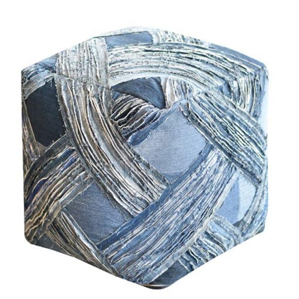 Προσφορά Πούφ Χειροποίητο Solapur Blue για 45,49€
