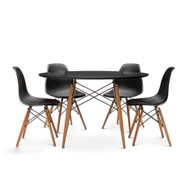 Προσφορά Σετ Τραπεζαρίας Dash Black Με 4 Καρέκλες Monte Carlo Μαύρες για 147,19€