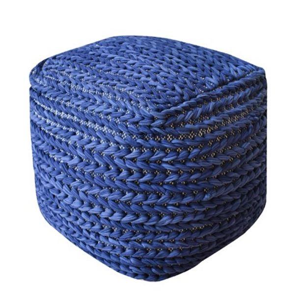 Προσφορά Πούφ Χειροποίητο Ranchi Blue για 45,49€