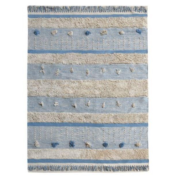Προσφορά Χαλί Βαμβακερό Υφαντό Kiddo Blue 120 x 180  για 62,99€