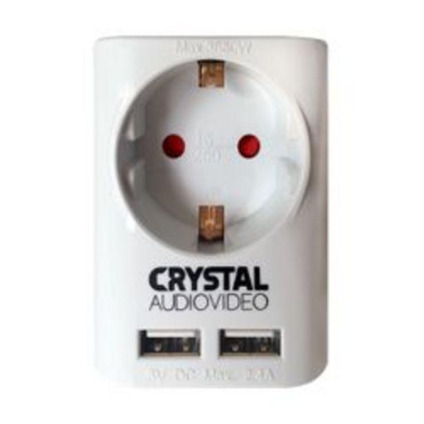 Προσφορά Crystal  Audio Suw-1 & 2 Θύρες Usb White για 6,99€