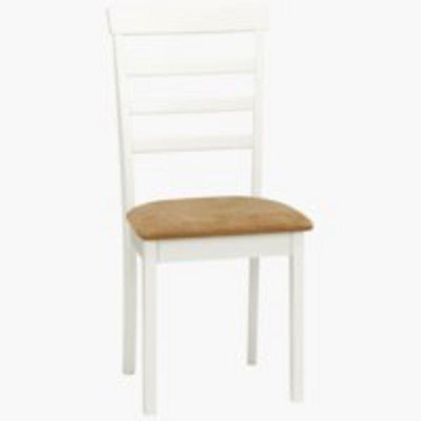 Προσφορά Καρέκλα τραπεζ. BJERT λευκό/καφέ για 30€
