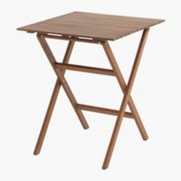 Προσφορά Τραπέζι μπιστρό EGELUND Π62xΜ62 σκλ.ξύλο για 40€