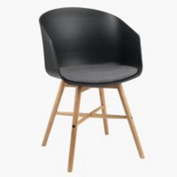 Προσφορά Καρέκλα τραπεζ. FAVRBJERG μαύρο/δρυς για 60€