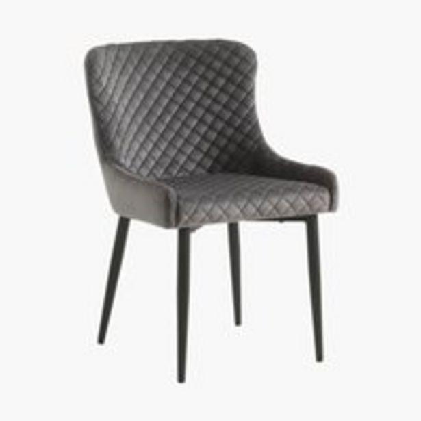 Προσφορά Καρέκλα τραπεζ. PEBRINGE βελ.γκρι/μαύρο για 75€