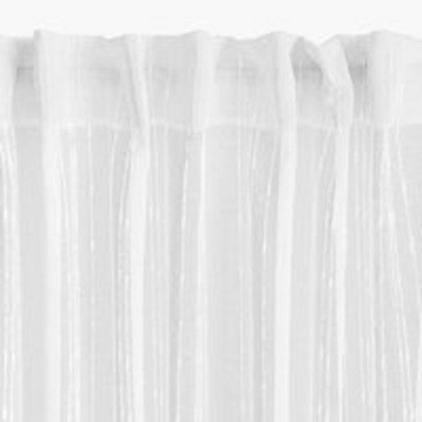 Προσφορά Κουρτίνα SKORPA 1x140x300 λευκό για 10€
