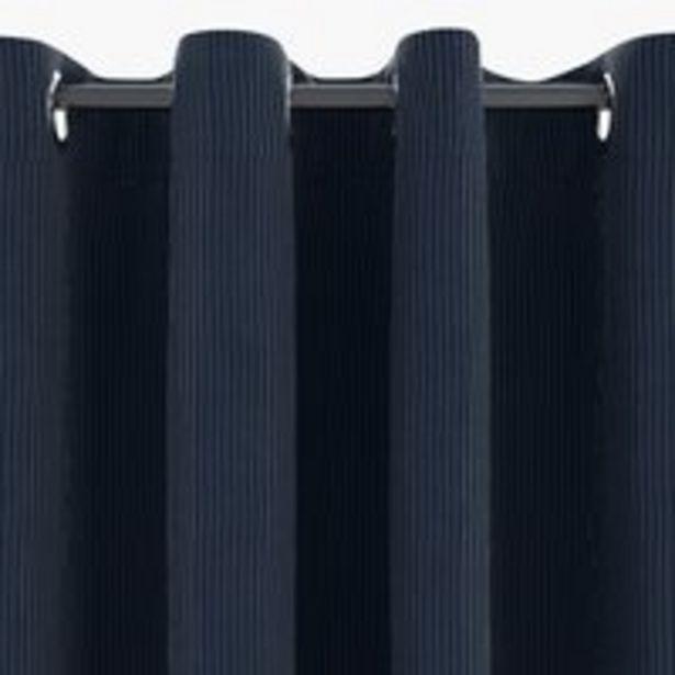 Προσφορά Κουρτίνα TOTAK 1x140x300 κοτλέ μπλε για 15€