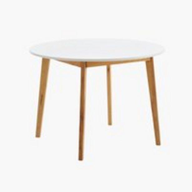 Προσφορά Τραπέζι τραπεζ. JEGIND Ø105 λευκό/φυσικό για 100€