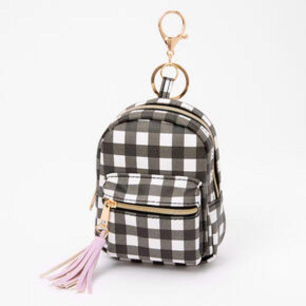 Προσφορά Gingham Mini Backpack Keychain - Black για 6€