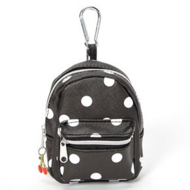 Προσφορά Polka Dot Mini Backpack Keychain - Black για 5€